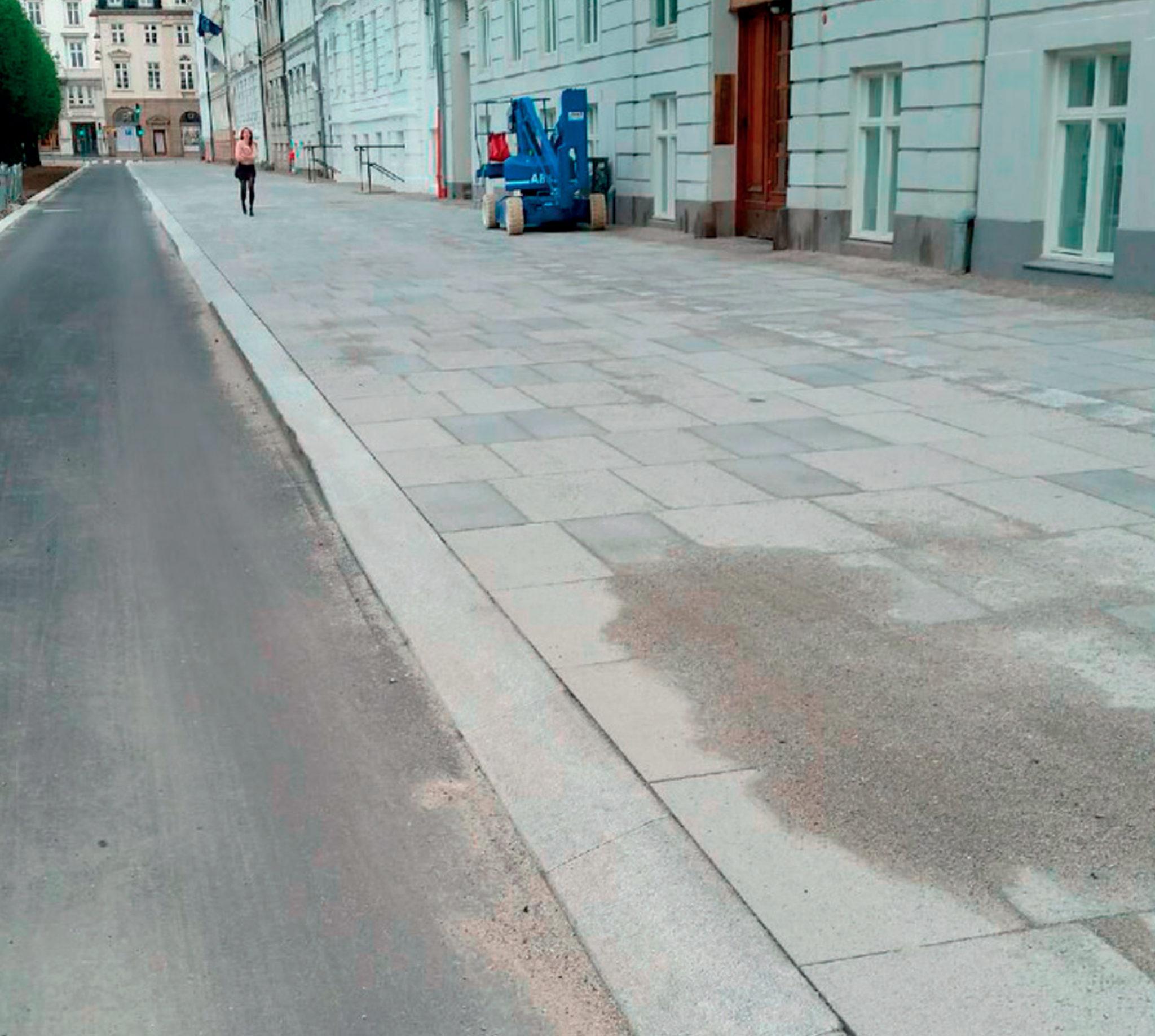 Anlæg af fortov i København - Sct. Annæ gade