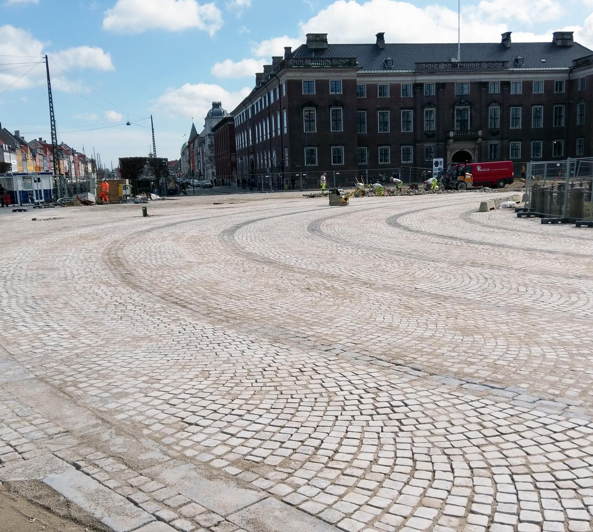 Brolægning i København - Kongens Nytorv